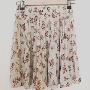 Brandy Melville Oatmeal Floral Skirt
